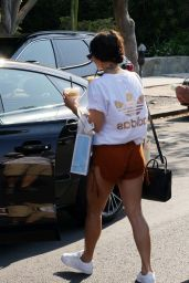 Vanessa Hudgens in Shorts - Out in LA 08/24/2016