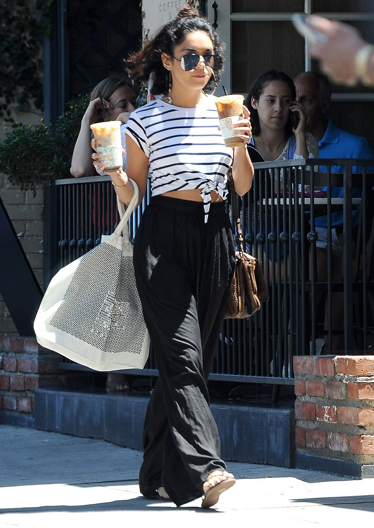 Vanessa Hudgens Street Outfit Los Angeles August 2016