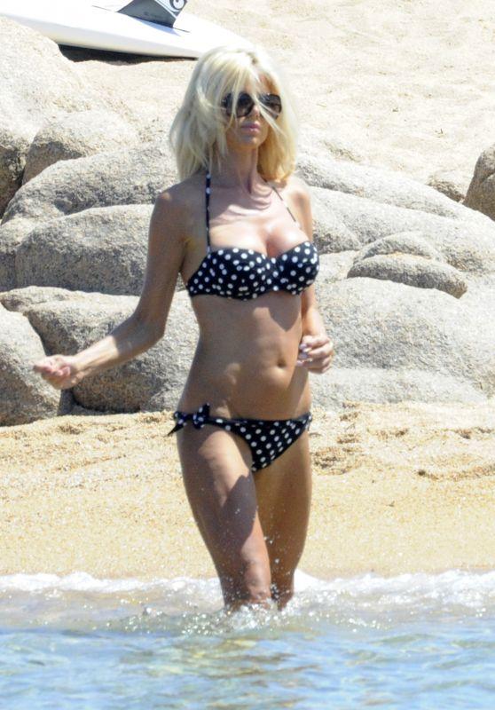 Victoria Silvstedt Bikini Candids - Beach in Sardinia 8/8/2016