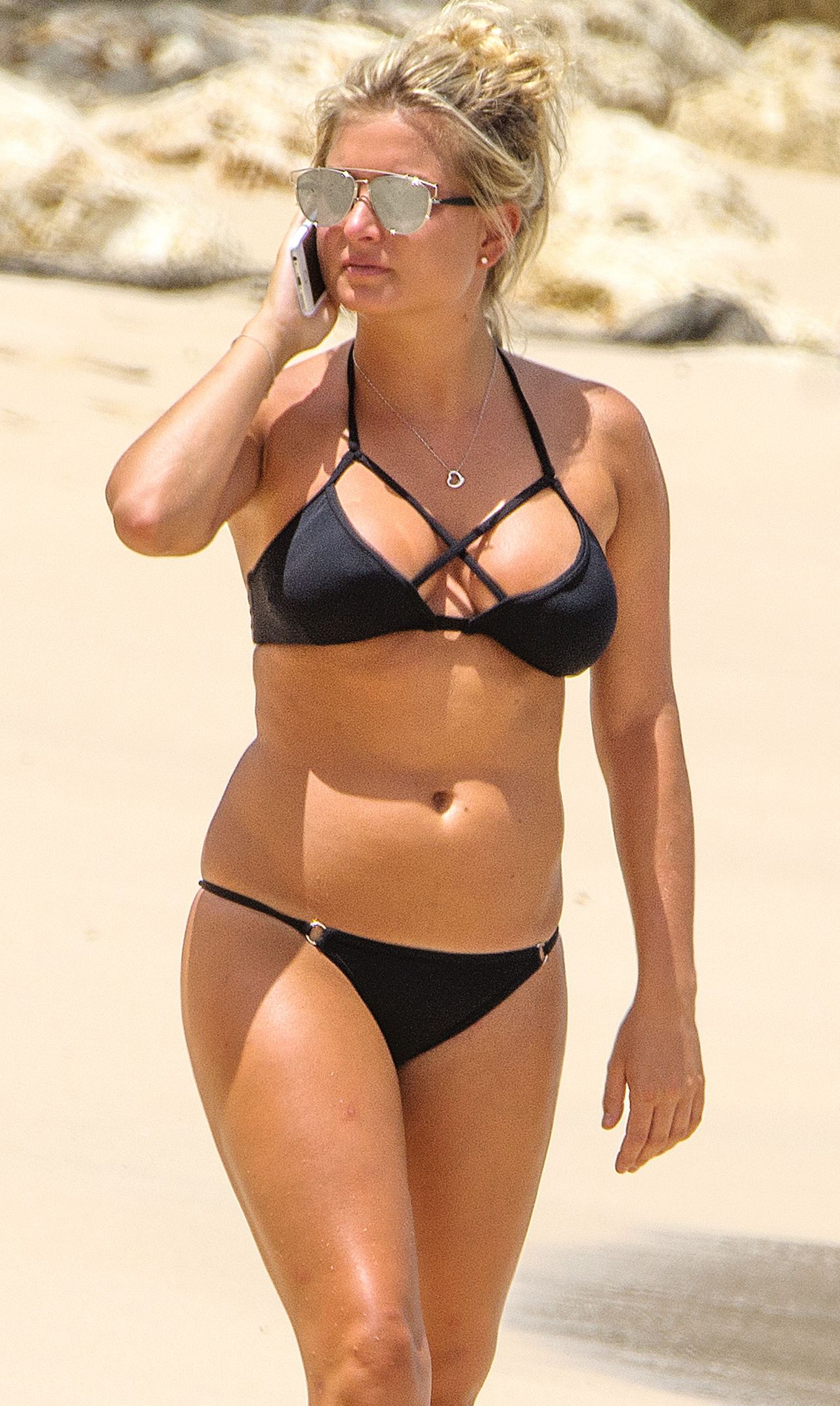 Zara Holland Hot in Bikini - Beach in Barbados 8/8/2016