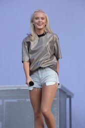 Zara Larsson Performs at V Festival at Hylands Park in Chelmsford, England 8/21/2016
