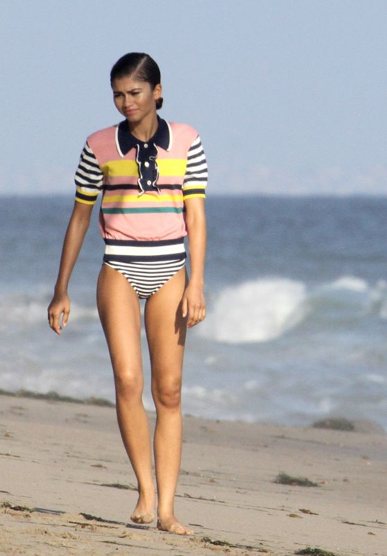 Zendaya Coleman Shooting a Music Video - Beach in Santa Monica 8/1/2016