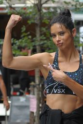 Adrana Lima - Running in New York City 9/6/2016