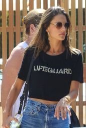 Alessandra Ambrosio in Jeans Shorts - Out in Malibu 9/25/ 2016