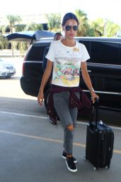 Alessandra Ambrosio in Ripped Jeans at LAX Airport in Los Angeles 09/26/ 2016