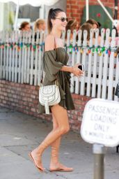 Alessandra Ambrosio - Lunches in West Hollywood 9/1/2016
