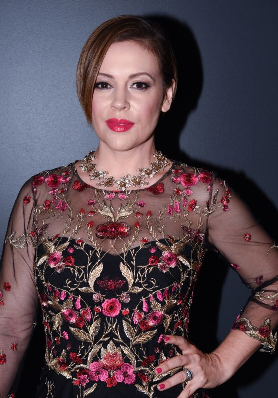 Alyssa Milano - The Marchesa Spring/Summer 2017 Fashion Show in New York City 9/14/2016