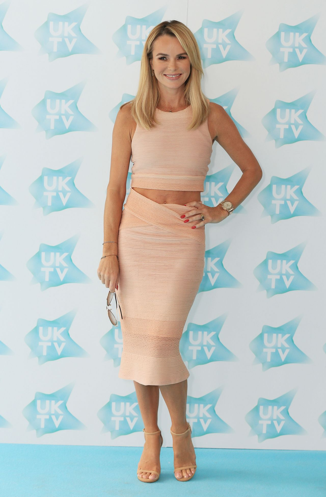 amanda holden 39 uktv live 39 new season launch in london 9