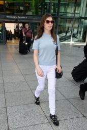 Anna Kendrick - Arriving in the UK to Promote Her New Movie 9/27/ 2016