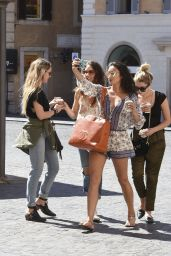 Ashley Benson, Troian Bellisario and Shay Mitchell Street Style - Rome 9/6/2016