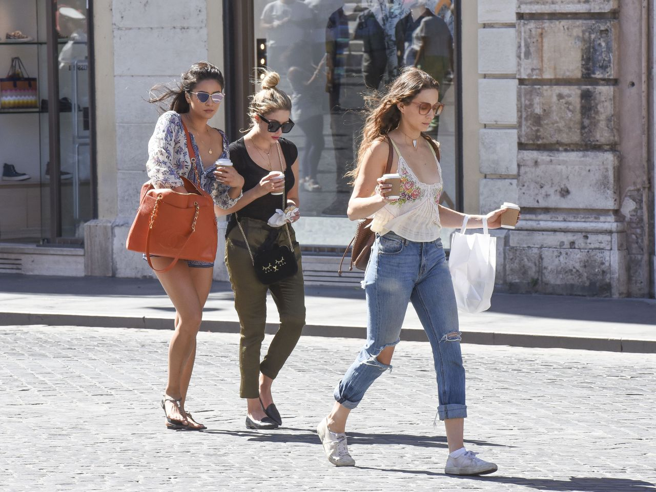 ashley benson troian bellisario and shay mitchell street