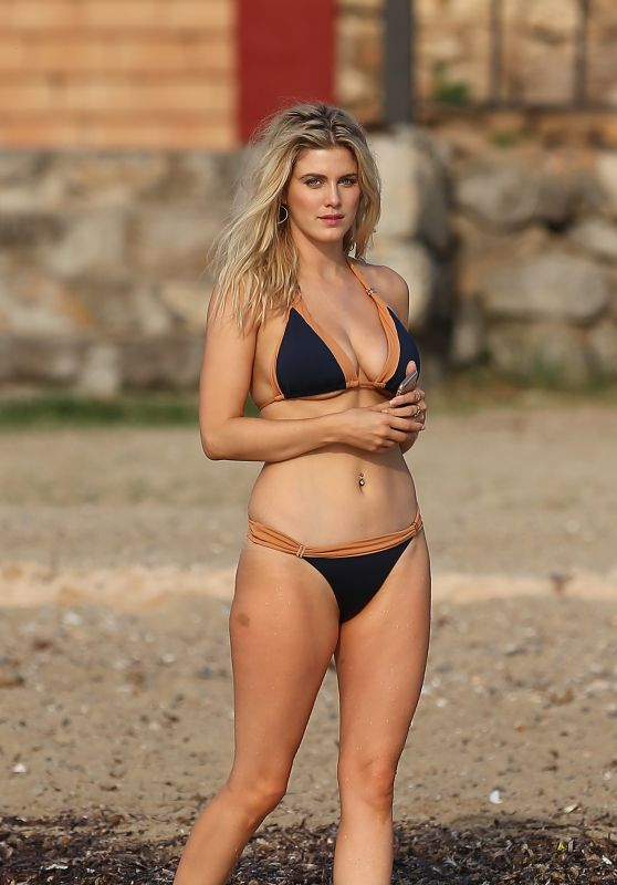Ashley James in Bikini at the Beach in Ibiza 9/22/2016