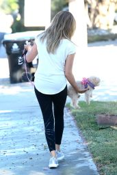 Ashley Tisdale - Walking Her Dog in Los Angeles 9/8/2016
