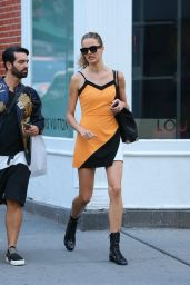 Barbara Fialho in Mini Dress - Shops in SoHo in New York City 9/5/2016