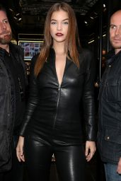 Barbara Palvin in Leather Catsuit - Paris 9/29/ 2016
