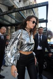 Bella Hadid - Out in Milan, Italy - September 24, 2016