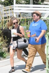 Brec Bassinger - Larchmont Village in LA, August 2016
