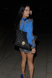 Cally Jane Beech  Night Out Style - Leaving Skybar in London, England 9/4/2016