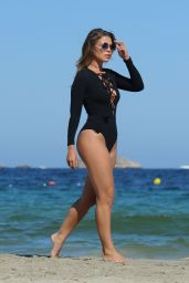 Chloe Lewis in Swimsuit in Ibiza at the Hard Rock Hotel 9/1/2016
