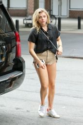Chloe Moretz Leggy in Shorts - Leaving a Restaurant in the West Village - NYC 9/18/2016