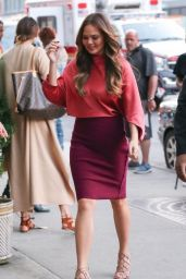 Chrissy Teigen Casual Chic Outfit - Out in NYC 9/13/2016
