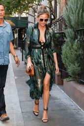 Chrissy Teigen is Stylish - Out for Lunch in NYC 8/29/ 2016