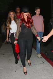 Christina Aguilera - Arriving at the Drake and Future Concert in Inglewood 9/29/2016