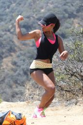 Christina Milian - Out for a Jog in Los Angeles 9/1/2016