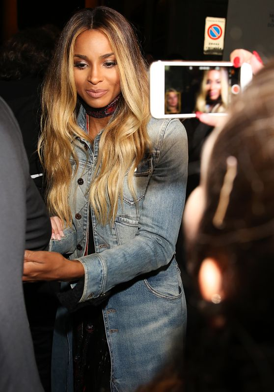 Ciara - Leaving Roberto Cavalli Spring Summer 2017 Women Fashion Show in Milan 9/21/2016
