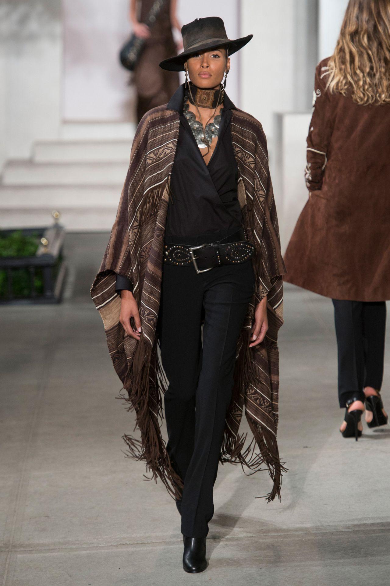Cindy Bruna Ralph Lauren Show At Milan Fashion Week September 2016