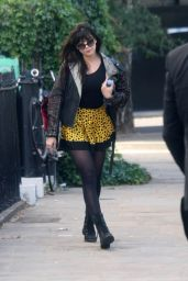 Daisy Lowe - On Her Way To Film Strictly Come Dancing in London 9/30/ 2016