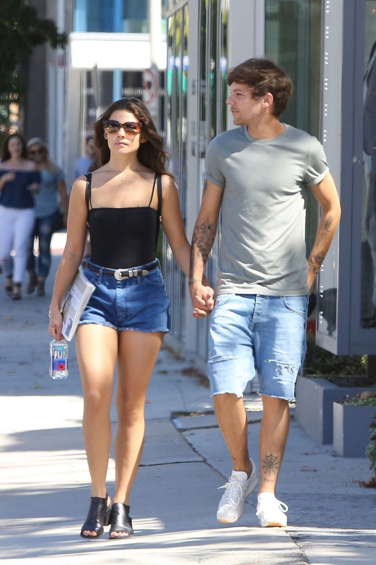 Danielle Campbell Leggy In Shorts Shopping In West