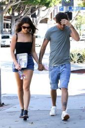 Danielle Campbell Leggy in Shorts - Shopping in West Hollywood 9/11/2016