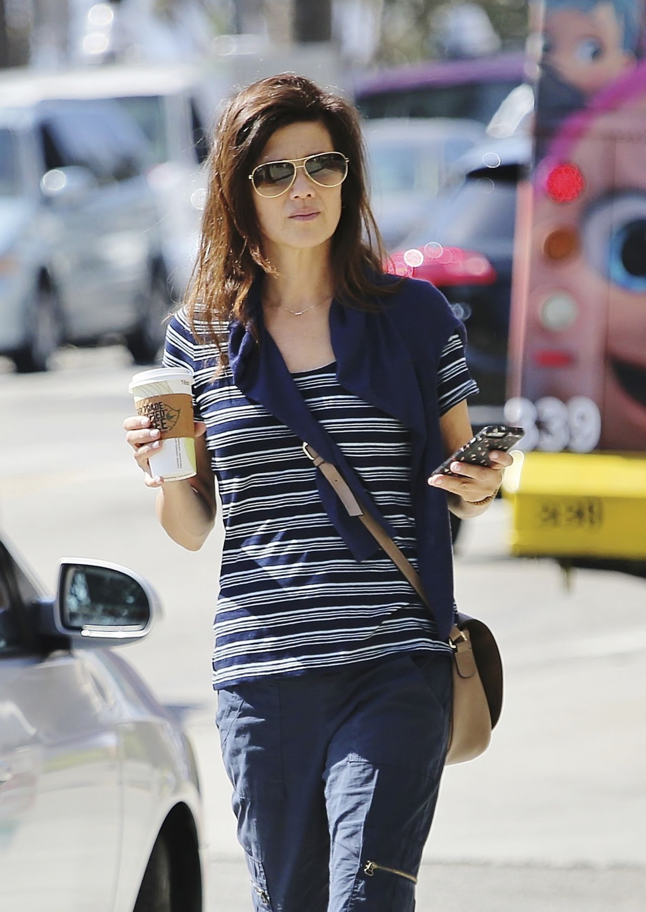 Daphne Zuniga - Out in Los Angeles 9/4/2016