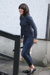 Davina McCall Street Style - Outside ITV Studios in London 9/21/2016
