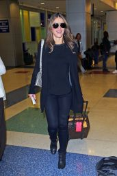 Elizabeth Hurley at JFK Airpot in NYC 9/28/2016