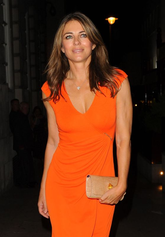 Elizabeth Hurley – Oliver Peoples Store Launch Party in London, UK 9/14/2016