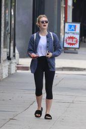 Elle Fanning in Leggings - Out in Studio City 9/22/2016