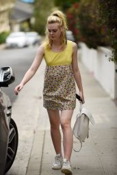 Elle Fanning - Leaves a Friends House in Los Angeles 9/20/2016