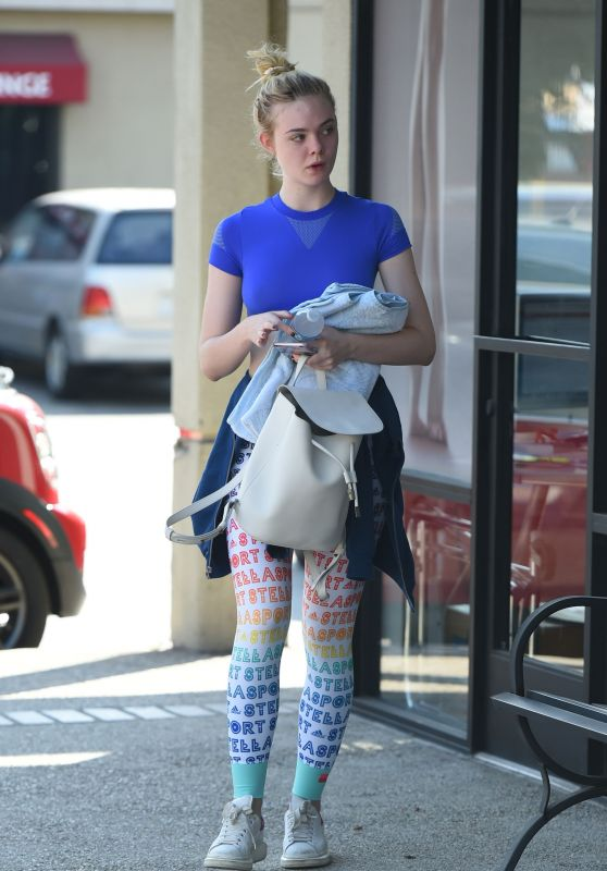 Elle Fanning Ready For a Workout - Los Angeles 9/21/2016