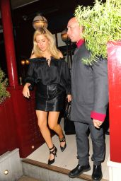 Ellie Goulding Night Out Style - Leaving Lou Lou
