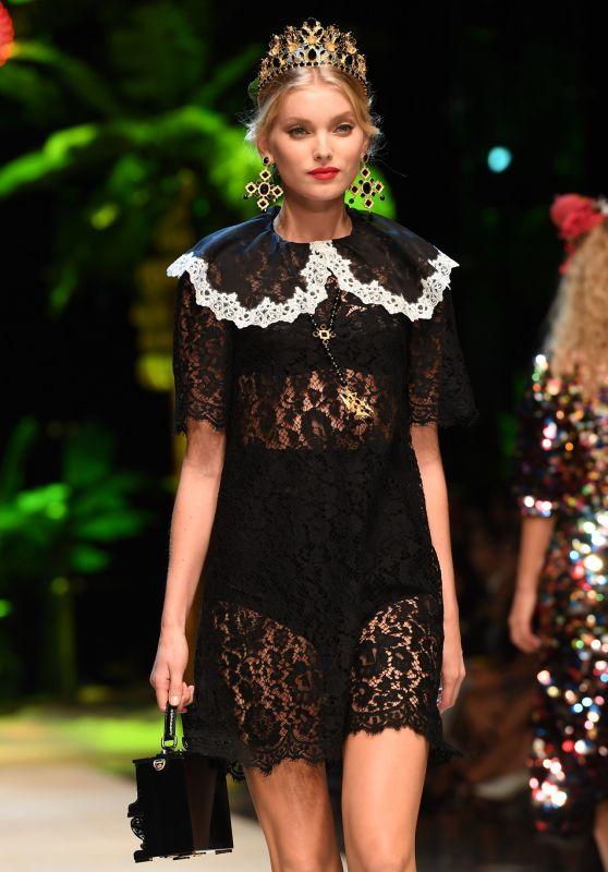 Elsa Hosk – Dolce & Gabbana S/S 2017 Show in Milan, September 2016