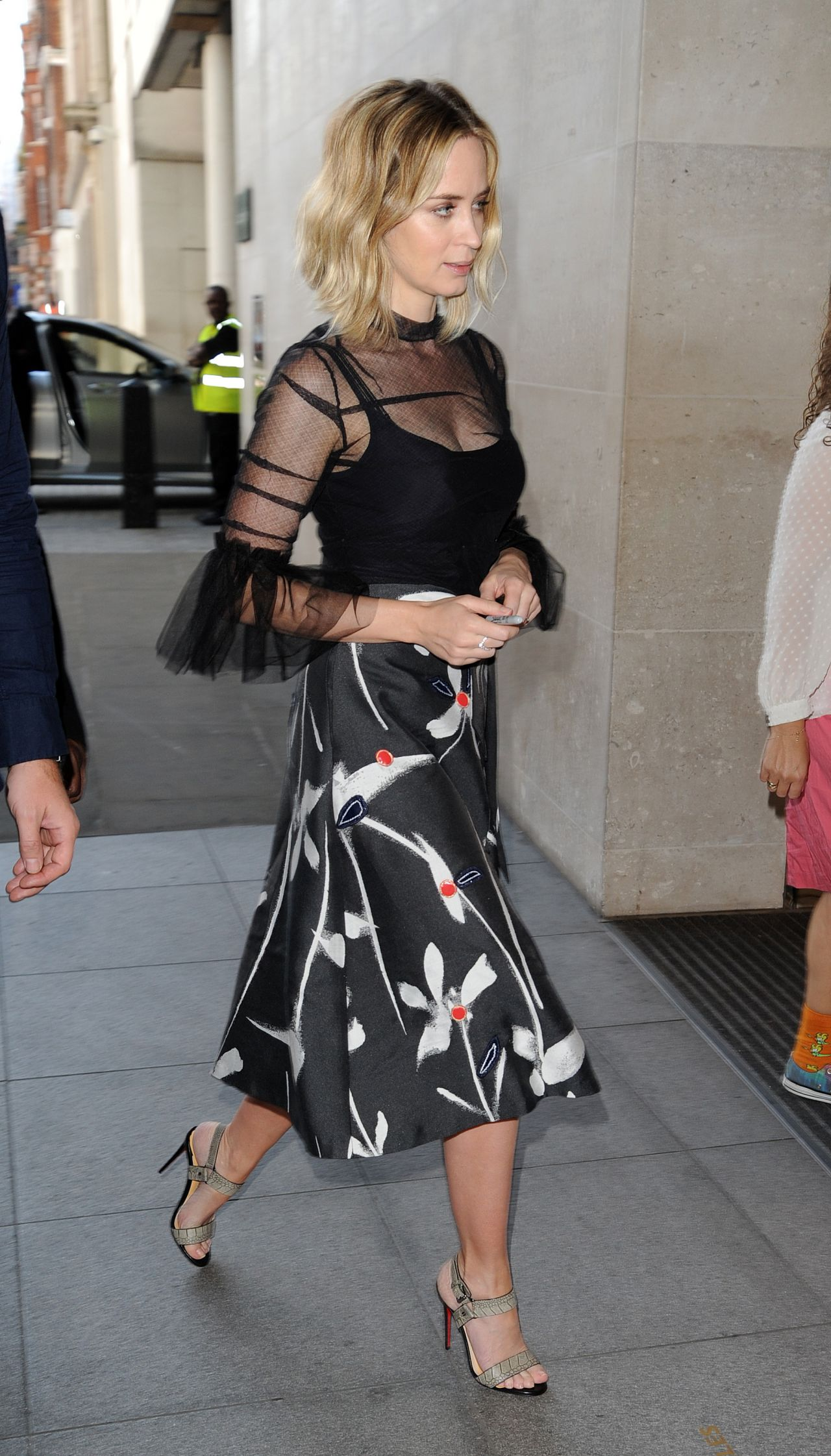 Emily Blunt Style Arrives At Bbc Radio 1 In London Uk 9