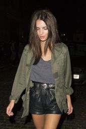 Emily Ratajkowski - Leaving The Chiltern Firehouse in London, UK 9/24/ 2016