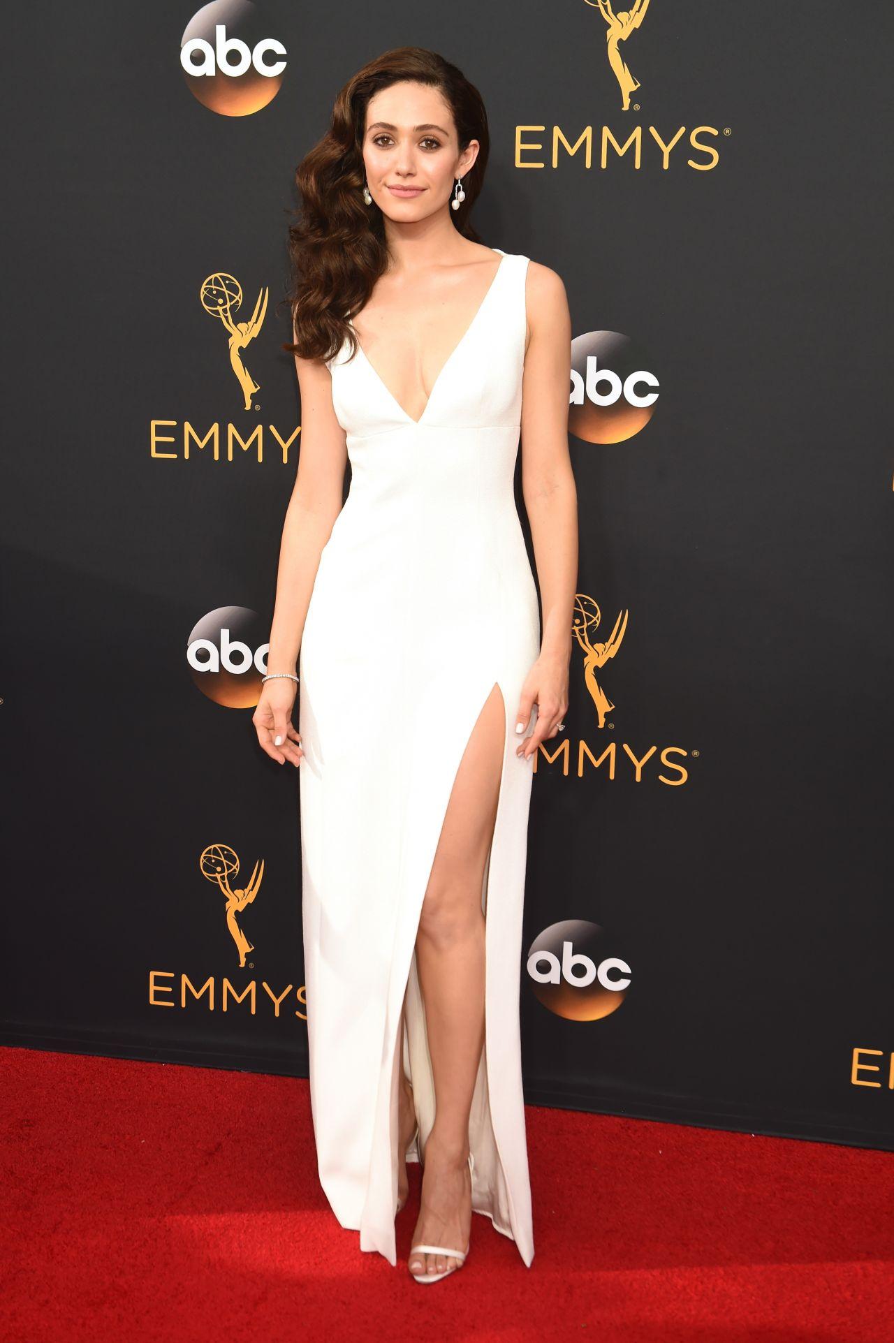 Emmy Rossum 68th Annual Emmy Awards In Los Angeles 09 18