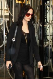Eva Green Style - Leaving Her Hotel in London 09/22/2016