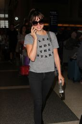 Felicity Jones - LAX Airport in Los Angeles 9/19/2016