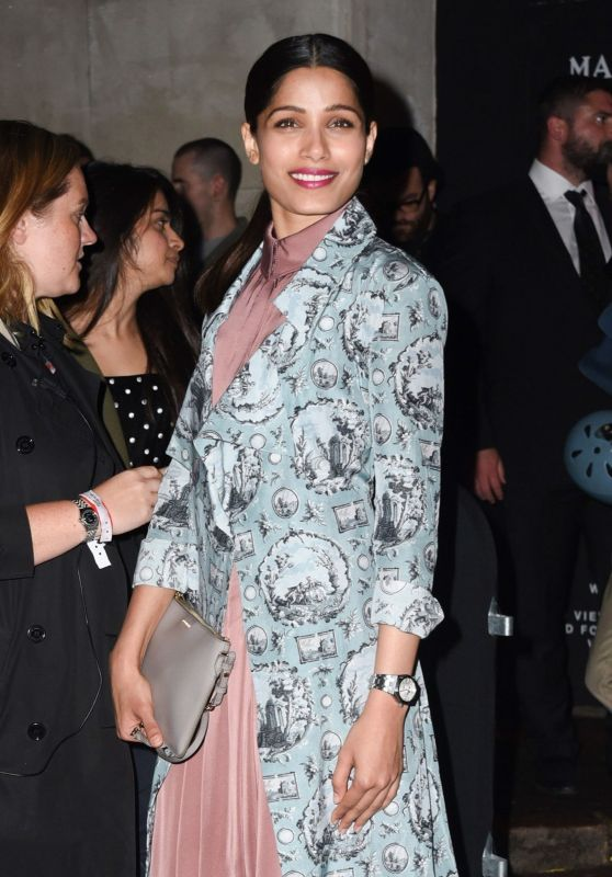 Freida Pinto - Burberry Show in London, UK 9/19/2016