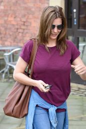 Gemma Atkinson - Leaving Key 103 Radio in Manchester, UK 09/14/2016