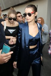Gigi & Bella Hadid - Leaving a Fashion Show in Milan, Italy 9/21/2016